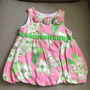 Lilly Pulitzer Baby Girl bubble dress 6-12 Months